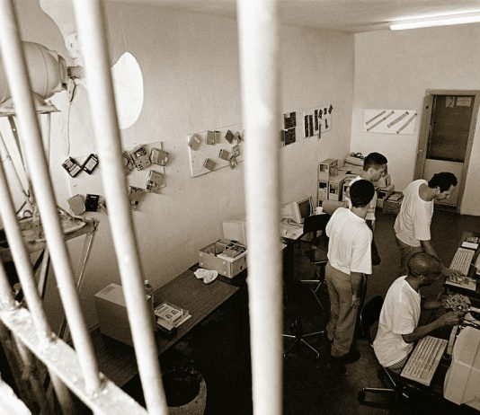Letting inmates use technology such as tablets could help them study and learn how to adjust when they get out of jail.